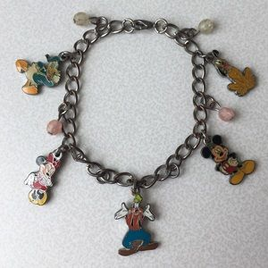 Disney Charm Bracelet Mickey Mouse Minnie